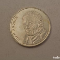 Medallas históricas: JUAN ANDRES MONEDA EN PLATA DE LEY. Lote 206416898