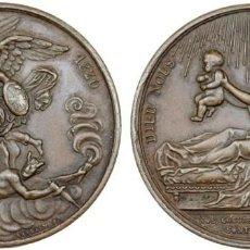 Medallas históricas: FRANCIA. MEDALLA DE BRONCE DE LUIS XVIII (1814-1824) QUE CONMEMORA EL NACIMIENTO DE ENRIQUE V. Lote 206437121
