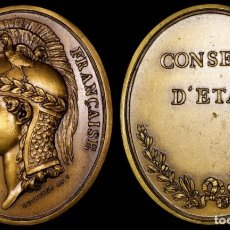 Medallas históricas: RARA MEDALLA NAPOLEÓN - CONSEJO DE ESTADO AÑO VIII POR PIERRE-SIMON-BENJAMIN DUVIVIER. Lote 206487122