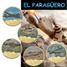 Medallas históricas: COLECCION COMPLETA DE MEDALLA ORO TIPO MONEDA ( CAZAS 100 ANIVERSARIO DE LA FUERZA AEREA ) Nº2. Lote 206489745