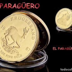 Medallas históricas: SUDAFRICA MEDALLA ORO TIPO MONEDA ( KRUGERRAND - HOMENAJE A LA GACELA ) PESO 32 GRAMOS Nº2. Lote 206495141