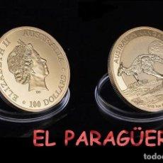 Medallas históricas: AUTRALIA MEDALLA ORO100 DOLARES TIPO MONEDA AÑO 2015 (ELIZABETH 2ª - HOMENAJE AL CANGURO AUSTRALIANO. Lote 206499882