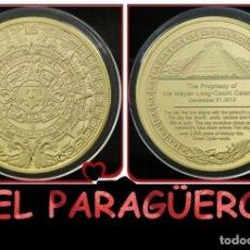 Medallas históricas: MEJICO MEDALLA ORO TIPO MONEDA ( CALENDARIO MAYA ) - PESO 34 GRAMOS - Nº3. Lote 206593757