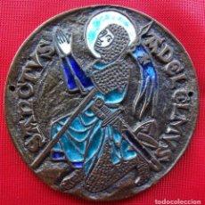 Médailles historiques: ANTIGUA MEDALLA SAN LESMES. PATRÓN DE BURGOS. SANCTVS ADELELMUS. LOUDUN. TEMPLARIO. ÚNICA EN VENTA.. Lote 206984356