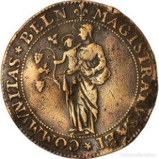 Medallas históricas: FRANCIA, TOKEN, ETIENNE DE LA MARE, MAIRE DE BEAUNE, HISTORY, 1654, BC+, COBRE. Lote 207049292