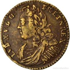 Medallas históricas: FRANCIA, TOKEN, LOUIS XV, PRISE DE FONTARABIE, HISTORY, BC+, COBRE. Lote 207049572