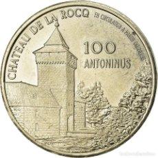 Medallas históricas: FRANCIA, TOKEN, 100 ANTONINUS, FELUY, CHATEAU DE LA ROCQ, HAINAUT, 1983, EBC. Lote 207049685