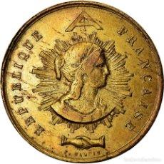 Medallas históricas: FRANCIA, TOKEN, DRAPEAU OFFERT PAR LA GARDE NATIONALE DE PARIS À LILLE, 1848. Lote 207049795