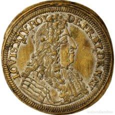 Medallas históricas: FRANCIA, TOKEN, LOUIS XIV, NUREMBERG, CORNÉLIUS LAUFFERS, HISTORY, EBC, LATÓN. Lote 207049862
