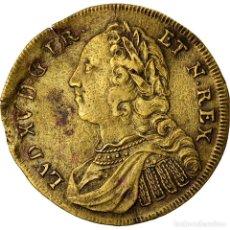 Medallas históricas: FRANCIA, TOKEN, LOUIS XV, PRISE DE FONTARABIE, HISTORY, MBC, COBRE. Lote 207051820