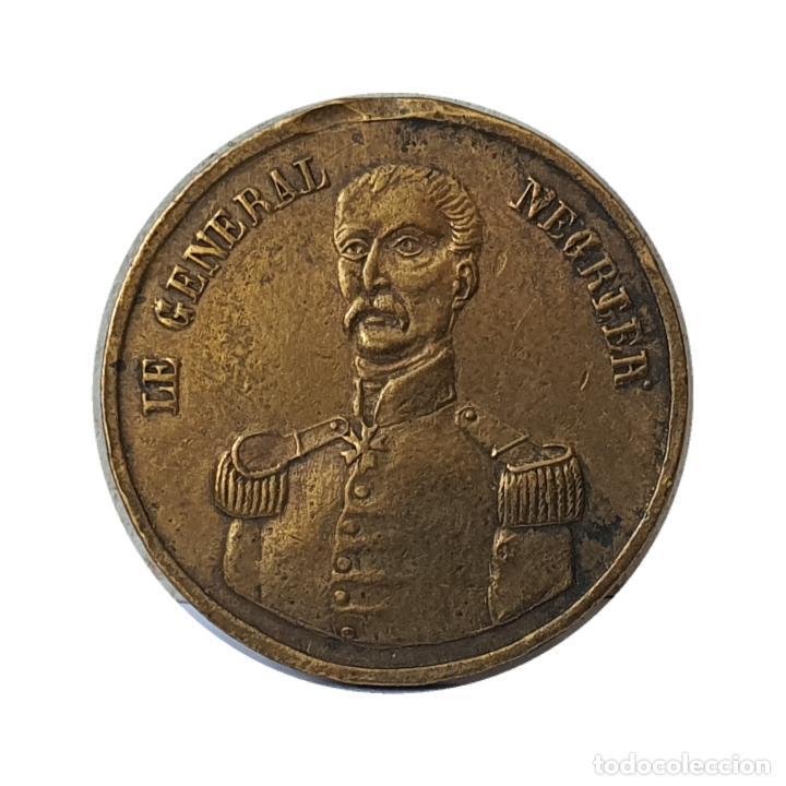 Medallas históricas: Bonito Jetón Francia. General François Négrier y los 4 días de junio 1848. 23,5mm - Foto 2 - 207087741