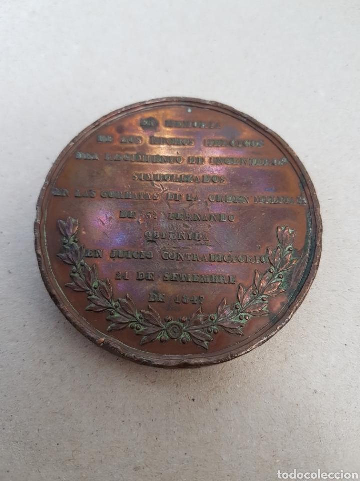 Medallas históricas: Medalla Isabel 2 hechos heroicos regimiento ingenieros 1847 - Foto 2 - 207119966