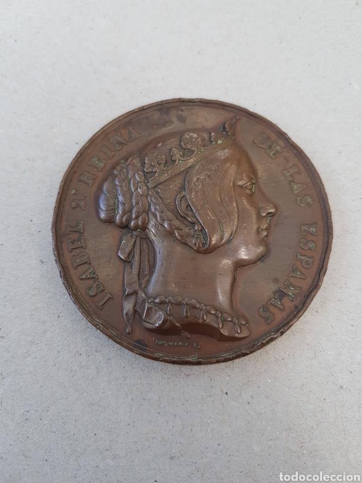 MEDALLA ISABEL 2 HECHOS HEROICOS REGIMIENTO INGENIEROS 1847 (Numismática - Medallería - Histórica)