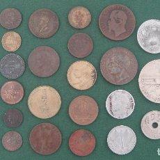 Medallas históricas: LOTE DE MONEDAS, PALLOFA, FICHAS, MEDALLAS Y REPRODUCCIONES (34 UNIDADES) VER FOTOS. Lote 207296882