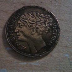 Medallas históricas: MEDALLA CONMEMORATIVA REINA VICTORIA DE INGLATERRA 1837 - REGINA TO HANOVER - FICHA - TOKEN - JETON. Lote 209043990
