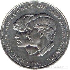 Medallas históricas: MEDALLA BODA PRINCIPE DE GALES Y LADY DIANA SPENCER 1981. Lote 209831555