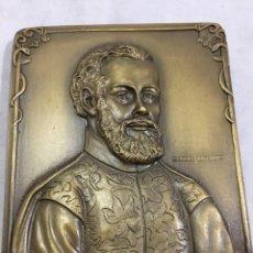 Medallas históricas: MEDALLA DE MANO PLACA DE BRONCE ANDRÉ VESÁLIO. CABRAL ANTUNES PORTUGAL GRAN CALIDAD NUMERADA 351/750. Lote 210061915