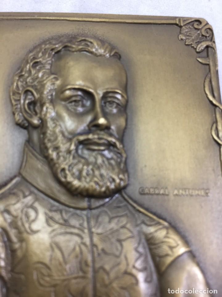 Medallas históricas: Medalla de mano placa de bronce André Vesálio. Cabral Antunes Portugal gran calidad numerada 351/750 - Foto 2 - 210061915