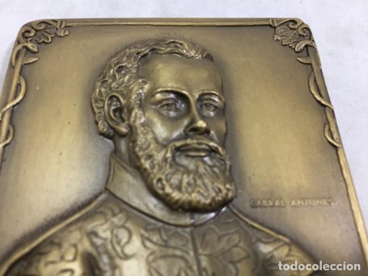 Medallas históricas: Medalla de mano placa de bronce André Vesálio. Cabral Antunes Portugal gran calidad numerada 351/750 - Foto 4 - 210061915