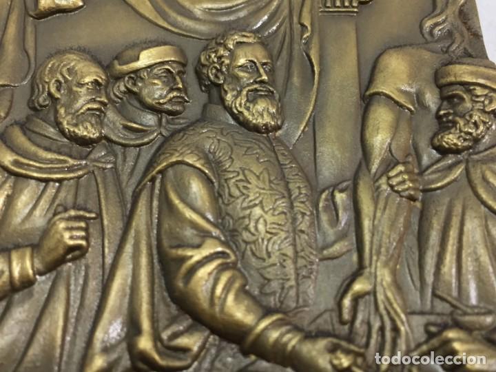 Medallas históricas: Medalla de mano placa de bronce André Vesálio. Cabral Antunes Portugal gran calidad numerada 351/750 - Foto 7 - 210061915