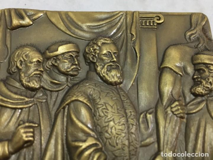 Medallas históricas: Medalla de mano placa de bronce André Vesálio. Cabral Antunes Portugal gran calidad numerada 351/750 - Foto 8 - 210061915