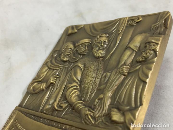 Medallas históricas: Medalla de mano placa de bronce André Vesálio. Cabral Antunes Portugal gran calidad numerada 351/750 - Foto 11 - 210061915