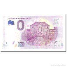 Medallas históricas: FRANCIA, TOURIST BANKNOTE - 0 EURO, 56/ PORT-LOUIS - CITADELLE DE PORT-LOUIS -. Lote 210334501