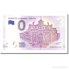 Medallas históricas: FRANCIA, TOURIST BANKNOTE - 0 EURO, 83/ TOULON - MUSÉE NATIONAL DE LA MARINE. Lote 210336528