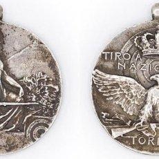 Medallas históricas: MEDALLA TIRO SEGNO NAZIONALE TORINO. PLATA. ITALIA. MEDALLA DE LA ASOCIACIÓN REAL NACIONAL TURÍN EBC. Lote 210343261