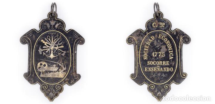 SOCIEDAD ECONÓMICA BARCELONESA. 1775. MEDALLA. MUY ESCASA. EBC (Numismática - Medallería - Histórica)