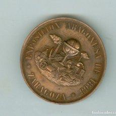 Medallas históricas: ZARAGOZA. ANTIGUA MEDALLA EXPOSICIÓN ARAGONESA 1868. ESTUCHE ORIGINAL SIN TAPA. TZ. Lote 210620017