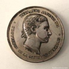 Medallas históricas: MEDALLA REINANDO ALFONSO XII PROTECTOR DE LA CIENCIA Y EL TRABAJO 1876. EXPOSICION DE GUADALAJARA. Lote 210654849