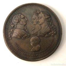 Medallas históricas: MEDALLA CAROL III HISP REGI CAROL ET LUDOVICAE FIL FERDINANDO REGENS NEPOT AVGG. 1785. MUY RARA. Lote 210656351