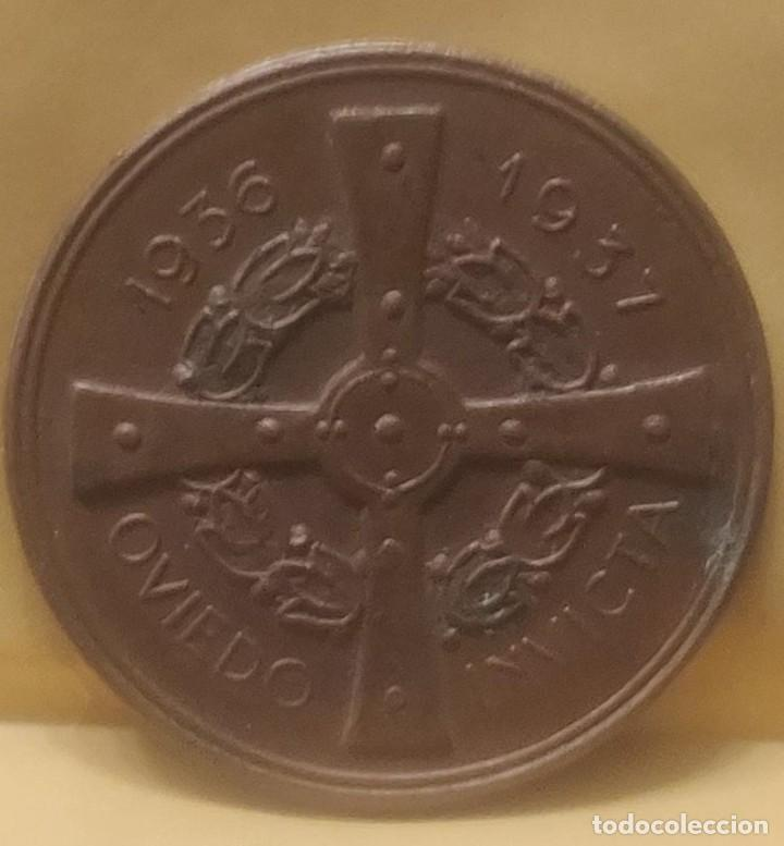 Medallas históricas: ASTURIAS MEDALLA DE MANO POR LA DEFENSA DE OVIEDO 1936-1937 GUERRA CIVIL.ORIGINAL*MILITAR-HISTÓRICA* - Foto 4 - 211614659