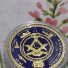 Medallas históricas: MONEDA CONMEMORATIVA A LA HERMANDAD MASÓNICA. Lote 211662225