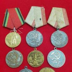 Medallas históricas: LOTE DE 8 MEDALLAS MILITARES UNION SOVIÉTICA. Lote 211696266