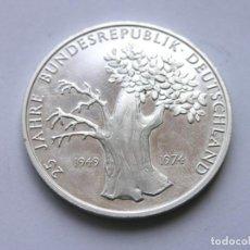 Medallas históricas: MEDALLA 25 AÑOS DE LA REPÚBLICA FEDERAL DE ALEMANIA - 1974 - PLATA 925 - PROOF - DIÁM. 3,8 CMS.. Lote 211938453