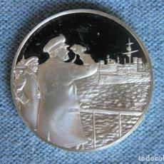 Medallas históricas: MEDALLA CENTENARIO WINSTON CHURCHILL 1974 -FRANKLIN MINT- PLATA 925 - 34,9 GRS.-DIAM. 4 CMS.. Lote 211938877