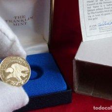 Medallas históricas: MEDALLA DE ORO MACIZO + CERTIFICADO DE AUTENTICIDAD. Lote 212888616