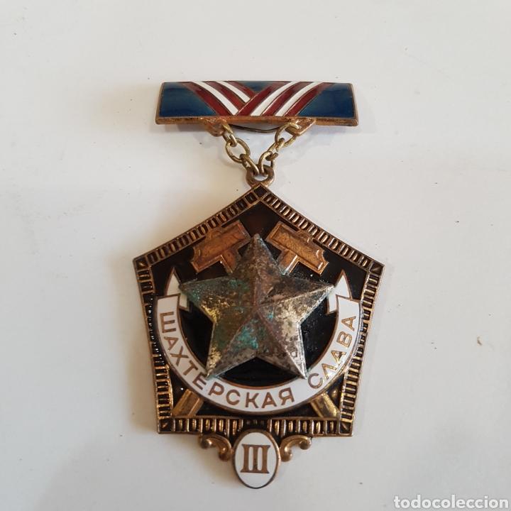 MEDALLA SOVIETICA A LA GLORIA MINERA (Numismática - Medallería - Histórica)