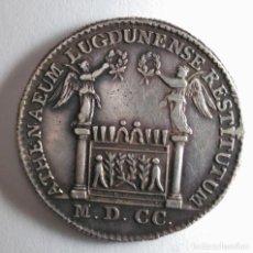 Medallas históricas: FRANCIA LION MEDALLA 1700 ATHENAEUM LUGDUNENSE RESTITTUTUM, LOUIS XIV. PLATA 11,3 G. Lote 213267665