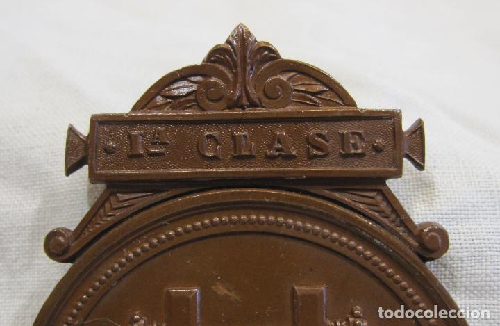 Medallas históricas: MEDALLA DE 1ª CLASE. CONSERVATORIO DE MÚSICA DEL LICEO DE YSABEL II, BARCELONA 5,6 X 4,2 CM. - Foto 3 - 213477608