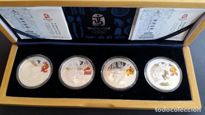 MONEDAS- CHINA OLIMPIADAS 2008 CON ESTUCHE DE MADERA Y CERTIFICADOS SC UNC ( SU39 ) (Numismática - Medallería - Histórica)
