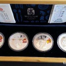 Medallas históricas: MONEDAS- CHINA OLIMPIADAS 2008 CON ESTUCHE DE MADERA Y CERTIFICADOS SC UNC ( SU39 ). Lote 213768693