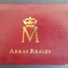 Medallas históricas: MONEDAS-ESPAÑA ARRAS REALES EN PLATA BAÑADAS EN ORO DE 24 KILATES CERTIFICADO Y ESTU SC UNC ( SU40 ). Lote 213771702
