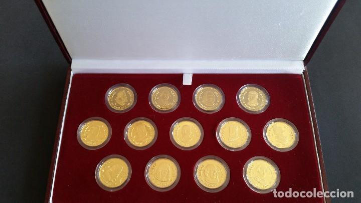 Medallas históricas: MONEDAS-ESPAÑA ARRAS REALES EN PLATA BAÑADAS EN ORO DE 24 KILATES CERTIFICADO Y ESTU SC UNC ( SU40 ) - Foto 2 - 213771702
