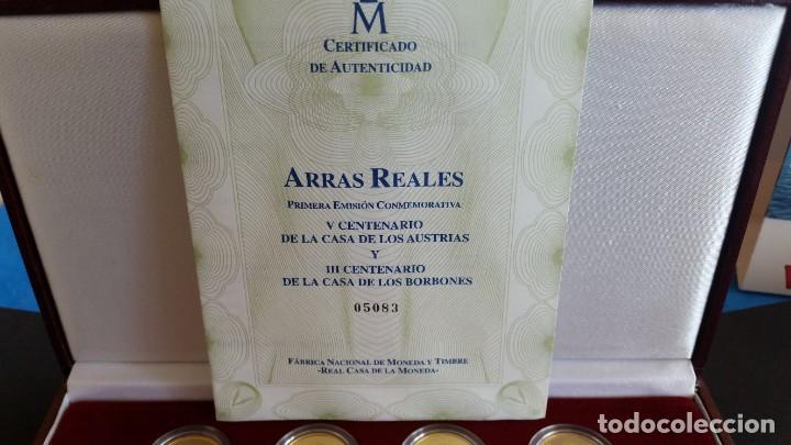 Medallas históricas: MONEDAS-ESPAÑA ARRAS REALES EN PLATA BAÑADAS EN ORO DE 24 KILATES CERTIFICADO Y ESTU SC UNC ( SU40 ) - Foto 3 - 213771702