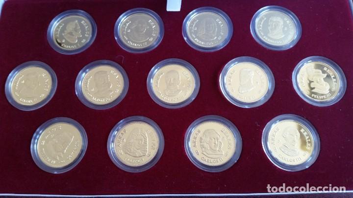 Medallas históricas: MONEDAS-ESPAÑA ARRAS REALES EN PLATA BAÑADAS EN ORO DE 24 KILATES CERTIFICADO Y ESTU SC UNC ( SU40 ) - Foto 4 - 213771702