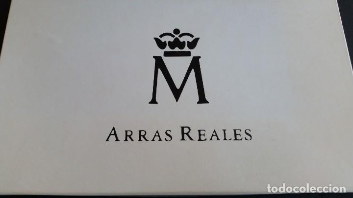 Medallas históricas: MONEDAS-ESPAÑA ARRAS REALES EN PLATA BAÑADAS EN ORO DE 24 KILATES CERTIFICADO Y ESTU SC UNC ( SU40 ) - Foto 5 - 213771702
