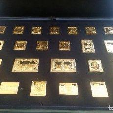 Medaglie storiche: SELLOS- 24 SELLOS EN PLATA BAÑADAS EN ORO( PROOF) DE LOS 150 AÑOS DEL SELLO EN ESPAÑA SC UN ( SU43 ). Lote 213805831